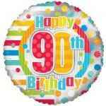 90th BIRTHDAY UNISEX BALLOON  19882-18